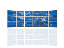 Wall of screens stock illustration