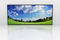 Wall of screens royalty free illustration