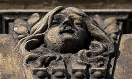 Wall sculpture. Sculpture on the wall - architectural element of the tenement royalty free stock image