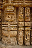 Wall Sculpture of Sun Temple Stock Images