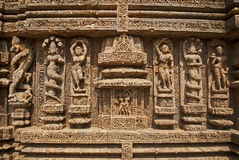 Wall Sculpture of Sun Temple Stock Photo