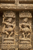 Wall Sculpture of Sun Temple Stock Photography