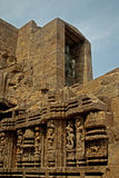 Wall Sculpture of Sun Temple Stock Photos