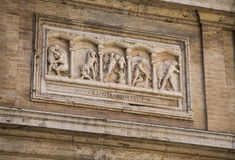 Wall Sculpture in Vatican Museum Royalty Free Stock Photos