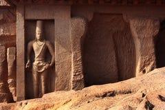 Wall sculpure in mahabalipuram- five rathas Royalty Free Stock Photos