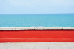 Wall By The Sea Royalty Free Stock Photo