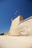 Wall with sentry box at Lleida city Stock Image