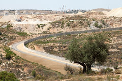 Wall of Separation Palestine Israel Apartheid. A view of the wall of separation deviding between Palestine and the occupied Palestinian territories in Israel Stock Photos