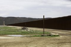 United States Border Wall in California stock images