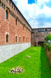 Wall of Sforza Castle Castello Sforzesco in Milan, Italy. Wall of Sforza Castle Castello Sforzesco in Milan, Italy royalty free stock photo