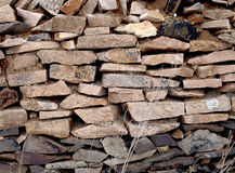 Wall of sharp stones Royalty Free Stock Images