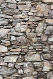 Wall of the sharp stones. Of various sizes Royalty Free Stock Image
