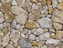 Wall from a shell rock Royalty Free Stock Photography