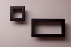Wall shelves. Decorative shelves on the wall Stock Photography