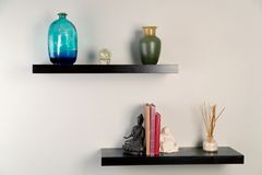 Wall shelves Stock Images