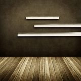 Wall shelves on vintage interior Royalty Free Stock Images