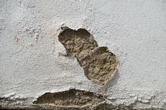 Wall showing patch of damaged render Stock Photography