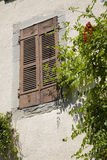 Wall With Shutters Stock Photography