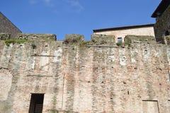 Wall of Sigismondo Castle (Castello Sidzhizmondo). Royalty Free Stock Images