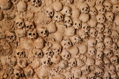 A Wall of Skulls Royalty Free Stock Images