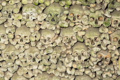 Wall of skulls Stock Photography