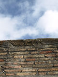 Wall and Sky. Curious setting in the Ciudadela of Jaca (Huesca) Spain Stock Photography