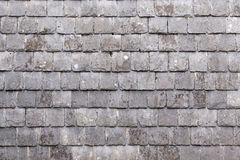 Wall with slate shingles Stock Photo