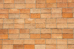 Wall of small bricks Royalty Free Stock Images