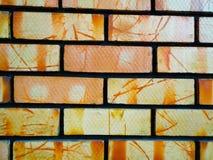 Wall of small bricks Stock Photos