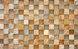 Wall Small Squares Abstract Pattern. Real Photo of checkered wall background royalty free stock photography