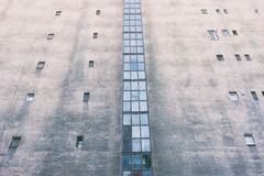 Wall with small windows Royalty Free Stock Photography