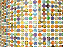 A wall of smiling faces. A mosaic of smiling faces with multi colour to emphasis diversity Stock Image