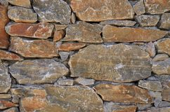 Wall smooth stone block. Stock Photography