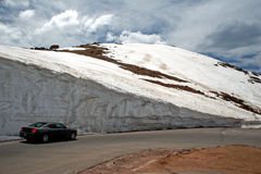 Wall of snow on Pike's Peak Stock Photos