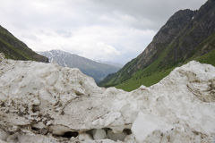 Wall of snow, Koednitz Valley, Austria Stock Images