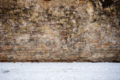 Wall and snow Royalty Free Stock Photos