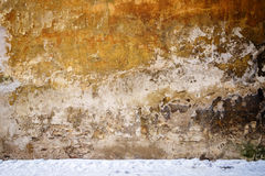 Wall and snow Royalty Free Stock Photo