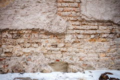 Wall and snow Royalty Free Stock Image