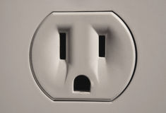 Wall Socket. A close up of a wall socket Royalty Free Stock Photos