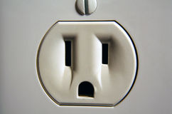 Wall Socket. A close up of a wall socket Royalty Free Stock Photography