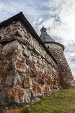 Wall of Solovetsky Monastery (Solovki) royalty free stock photography