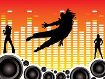 Wall of sound stock illustration