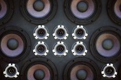 Wall of sound speakers. Wall of sound speakers for street discos and holidays Royalty Free Stock Photography