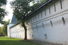 Wall of the Spaso Andronikov monastery in Moscow royalty free stock image