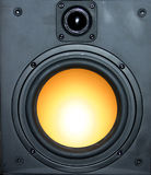 Wall speaker. With tweeter and woofer royalty free stock photos