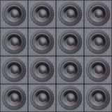 Wall Of Speakers. (Design Element Stock Photography