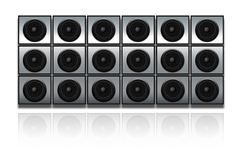 Wall of speakers. Public address system royalty free illustration