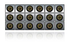 Wall of speakers Stock Photography