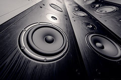 Wall of speakers. Stock Photography