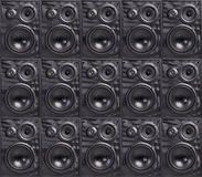 Wall of Speakers Stock Images